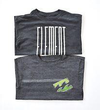 Billabong/Element Boy's Set of 2 Short Sleeve Tees - Gray sz M