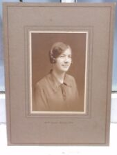 VINTAGE 1920-30 YOUNG LADY A H STICKELLS TUNBRIDGE WELLS BLACK WHITE PHOTOGRAPH
