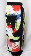 ECI Long Maxi Skirt size Medium Coral Black Slinky Jersey