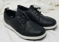 Dr. Martens SOLARIS Black Leather 3-Eye Low Top Sneakers Size Mens 10  Womens 11