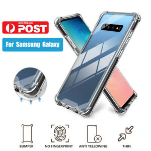 Samsung Galaxy S20 S10 S9 S8 Plus Slim Clear Cases Shockproof Cover