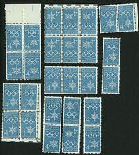 1960 4c US Postage Stamps Scott 1146 Winter Olympics Lot of 27