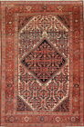 Pre1900 Antique Grand Floral 4x6 Wool Malayer (Mishen) Oriental Area Rug