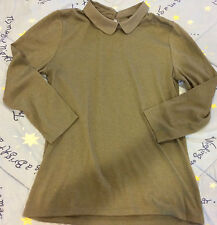 Ann Taylor Collared 3/4 Sleeve Top, Size Medium
