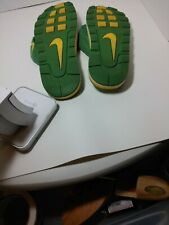 Nike Size 11 Green Yellow Flip Flops Swoosh