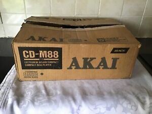 Original Vintage AKAI CD-M88 CD Player, with Original Box and Instructions.