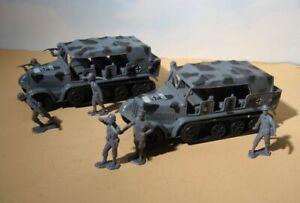 Durham Industries 10 piece  Grey Ghost Half Track + Marx German Soldiers  Lot