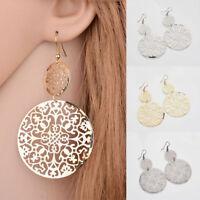 Bohemian Long big Round Earrings Women Jewelry Hollow Hook Dangle Earrings Hot