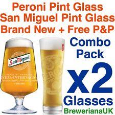 Set of 2 San Miguel Pint 20oz Glasses 100 Genuine Official