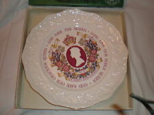 NEW IN BOX MASONS IRONSTONE  SILVER QUEENS JUBILEE PLATE      GOOD GIFT IDEA