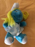 """Vintage Peyo 1981 Wallace Berrie The Smurfs """"Smurfette"""" Plush Toy 8 inch"""