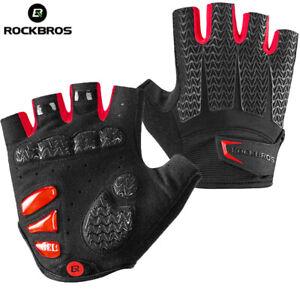 RockBros Riding Half Fingers Bike Gloves Gel Pad Shock Anti Slip Outdoor Sports