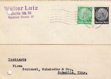 BERLIN, Postkarte 1936, Walter Lutz Kunsthorn Casolith