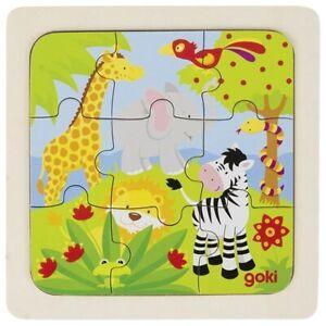 Einlegepuzzle Tiere 9 Teile Puzzle für Kinder ab 2 Jahre aus Holz Spielzeug