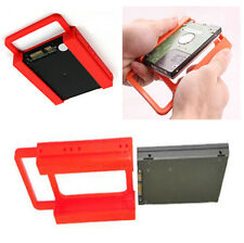 """2X PC 2.5"""" HDD SSD TO 3.5"""" SCREW-LESS MOUNTING ADAPTER BRACKET DOCK FOR SSD HARD"""