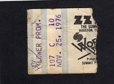 1976 Zz Top Rory Gallagher Concert Ticket Stub Houston Summit Texas Tejas 11/25