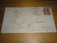 UNITED STATES Stamps 1886 PLAIN 2 Cents Brown COVER - CLENVILLE WEST VIRGINIA #1