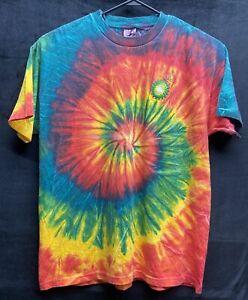 BP Petroleum Oil Off Shore Rig Tye Dye Mens T-shirt Size XL (13)