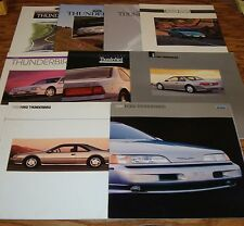 1989 - 1997 Ford Thunderbird Sales Brochure Lot of 9 90 91 92 93 94 95 96