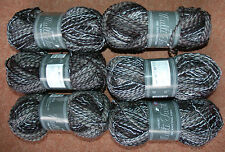 NEW 600g Luxury Grey Black White Knitting Crochet Wool Yarn Unusal
