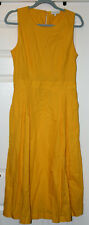 WAREHOUSE LONG LENGTH YELLOW DRESS (SPLIT BACK) UK 14 BNWOT