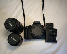 Canon EOS Rebel T7 Camera Body + 18-55mm Kit Lens +75-300 Telephoto lens