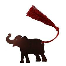 Metal Elephant Bookmark Tassel Reading Marker Decor Stationery Supplies Gift LC