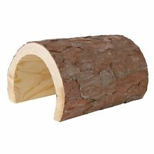 Wooden Half Tunnel Hide-Away for Guinea Pigs Chinchillas Rats Small Animal 22cm