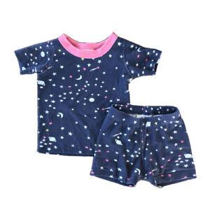 "Hanna Andersson Girl's 18 Month, 80 cm Short John Pajama Set ""Northern Lights"""
