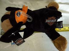 "Harley Davidson ""Biker Buddies"" black/tan or white dog plush stuffed animal NWT"