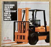 1986 Toyota Series 5 Forklifts original Australian sales brochure