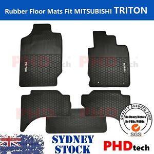 Mitsubishi Triton MQ & MR  Dual Cab All Weather Rubber Car Floor Mats 2015-2021