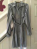 SIZE 8 NEW BOOHOO BLACK/WHITE BUTTON THROUGH SHIRT DRESS TOWIE/CLUB RRP £29.99