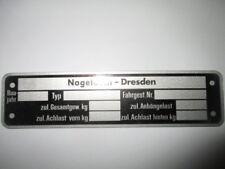 Nameplate IFA VEB DDR nagetusch Dresden CARAVAN 3,5 Trailer S39
