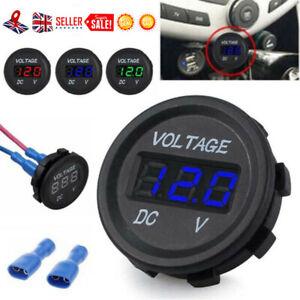 DC 12V-24V Motorcycle Waterproof Car LED Digital Display Voltmeter Socket Meter