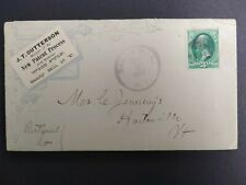 Ny: Sandy Hill 1883 Outterson Wood Pulp Advertising Cover, Dpo Washington Co
