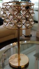 Serene table lamp 'Timothy Oulton ZigZag style' Rose Gold 69x32cm K9 Crystal NEW