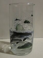 1989 Irving Oil Limited Glass Tumbler Whale With Calf