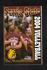 Ferris State Bulldogs--2004 Volleyball Pocket Schedule--Best Western