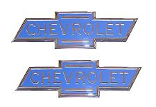 "1936 1937 1938 Hood Side Emblems Blue ""CHEVROLET"" Bowtie Chevy Pickup Truck PAIR"