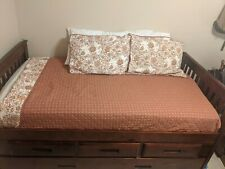 Wood and Cane Twin Day bed - brown
