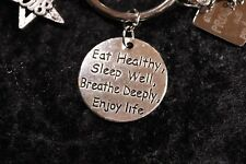 Eat Healthy,Sleep Well,Breathe Deeply,Enjoy Life Charm for Weight Watcher Ring