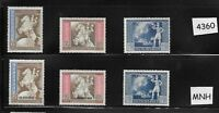 Complete MNH stamp set 1942 Third Reich Germany European Postal Congress Vienna