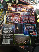 WWF WWE Wrestling Presents HISTORY OF WRESTLEMANIA I-V 1-5 Magazine