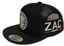 ZACATECAS MEXICO HAT 2 LOGOS  BLACK MESH SNAPBACK ADJUSTABLE NEW HAT