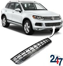 NEW VOLKSWAGEN TOUAREG 2010 - 2014 FRONT BUMPER LOWER CENTER GRILLE WITH CHROME