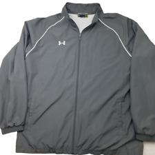 Under Armour Mens XL Gray Windbreaker Lightweight Jacket Coat Polyester