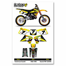 1993-1995 SUZUKI RM 125-250  Graphics Kit James Stewart Dirt Bike Graphics kit