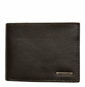 Santa Cruz Wallet Metal Strip Chocolate Leather Bi-Fold + Box