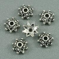 60pcs Tibetan silver flower beads'caps h3000